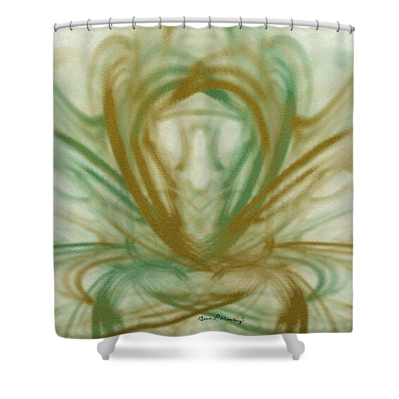 Fractal Shower Curtain featuring the digital art Fluid Art by Gina Lee Manley