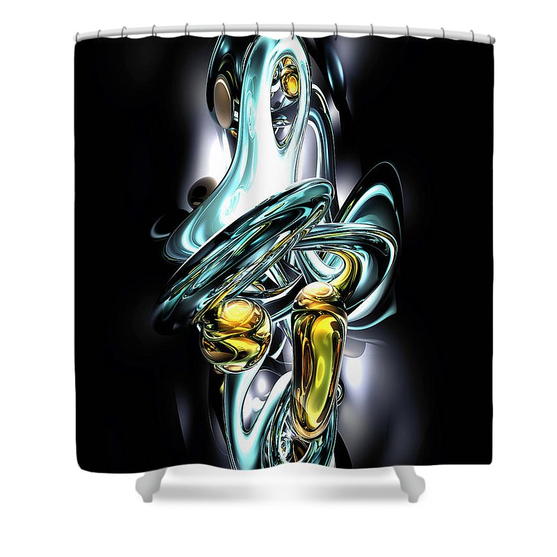 3d Shower Curtain featuring the digital art Fluidity Abstract by Alexander Butler