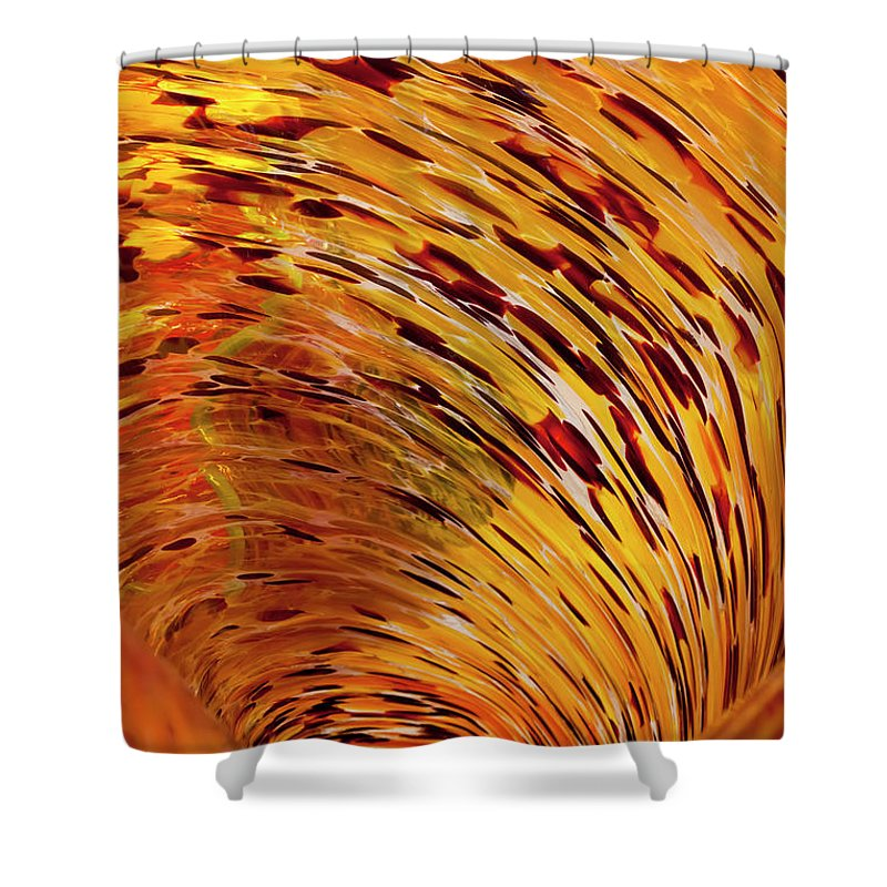 Blown Glass Shower Curtain featuring the photograph Flushed by Janet Fikar