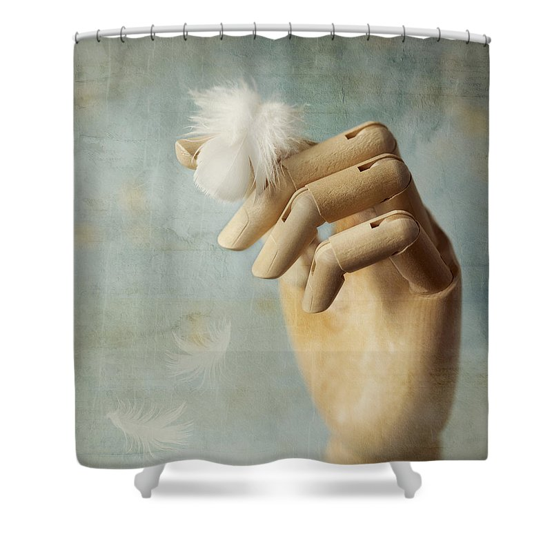 Hand Shower Curtain featuring the photograph Fly Far Away by Amy Weiss