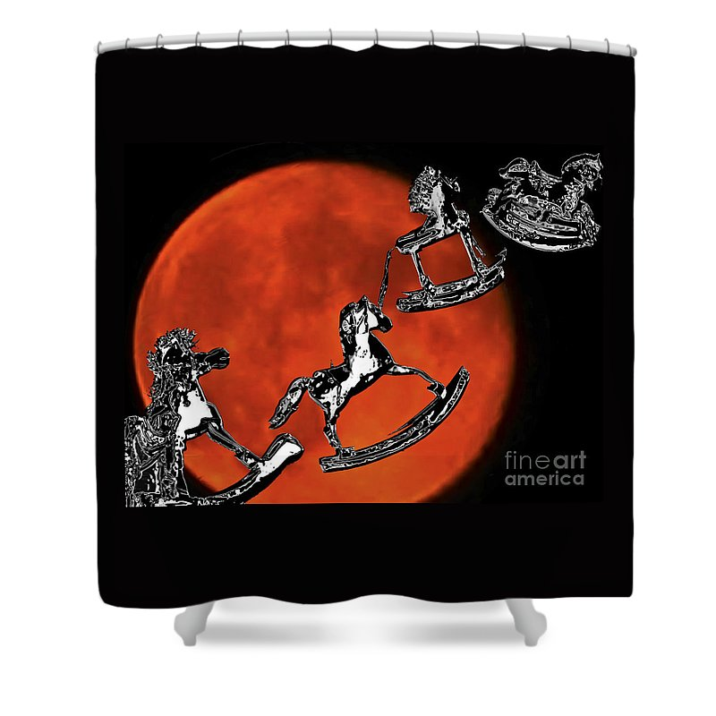 Dream Shower Curtain featuring the photograph Fly Me To The Moon by Carol F Austin