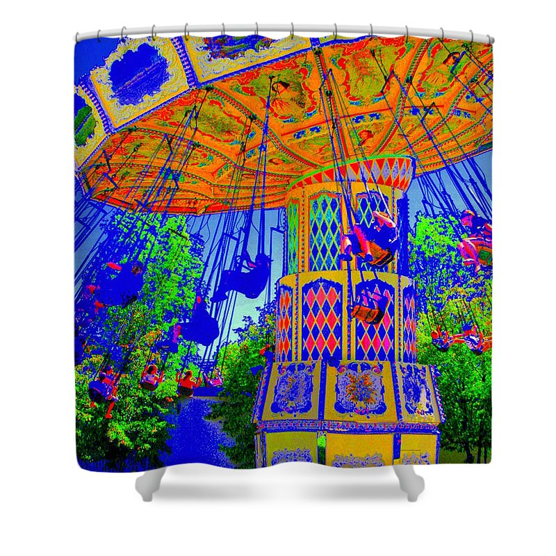 Flying High Shower Curtain featuring the photograph Flying High by Ed Smith