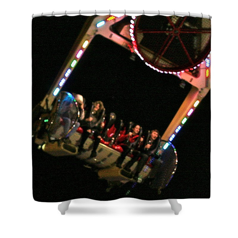 Winter Wonderland Shower Curtain featuring the photograph Flying Without Wings by Steve Swindells