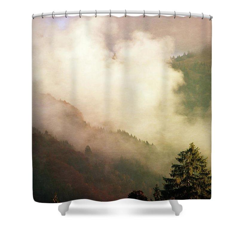 Susann Serfezi Shower Curtains