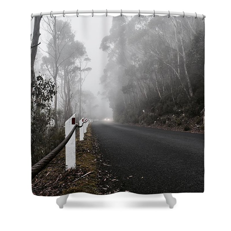 Mist Shower Curtain featuring the photograph Fog In The Mountains by Liam Young