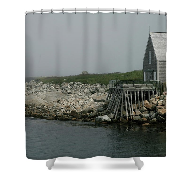 Newfoundland Shower Curtain featuring the photograph fogBound by Mark Alesse