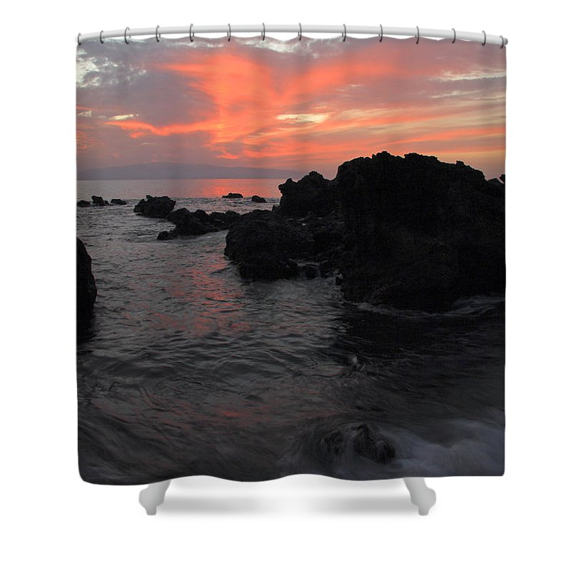 Seascape Shower Curtain featuring the photograph Fonsalia Red by Phil Crean