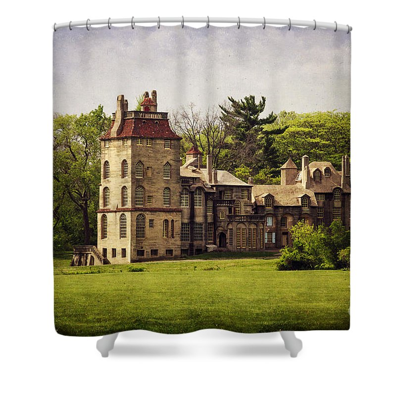 Fonthill Shower Curtain featuring the photograph Fonthill By Day by Debra Fedchin