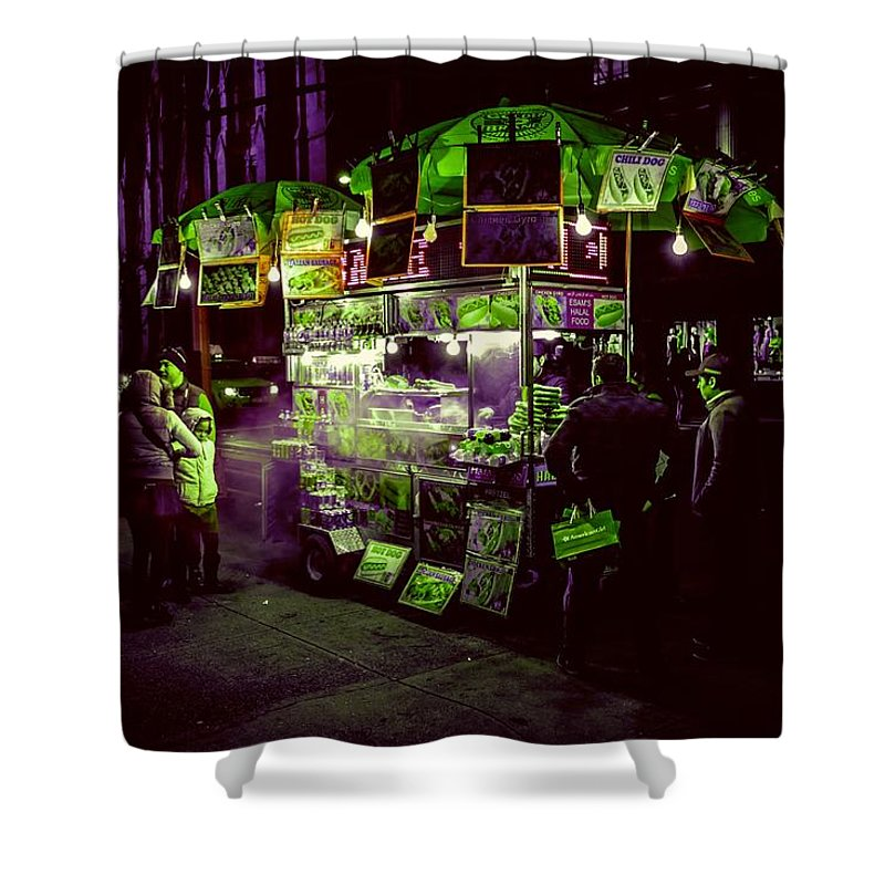 Food Shower Curtain featuring the photograph Food Stand by Ca Photography