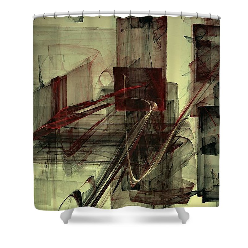 Chess Shower Curtain featuring the digital art Fools Mate by NirvanaBlues