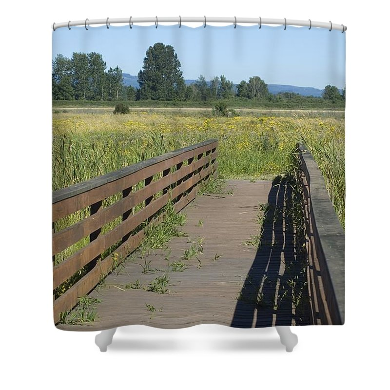 Foot Shower Curtain featuring the photograph Foot Bridge by Sara Stevenson
