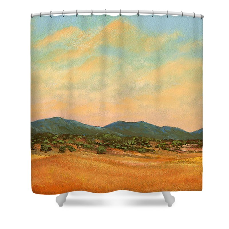 Landscape Shower Curtain featuring the painting Foothills by Frank Wilson