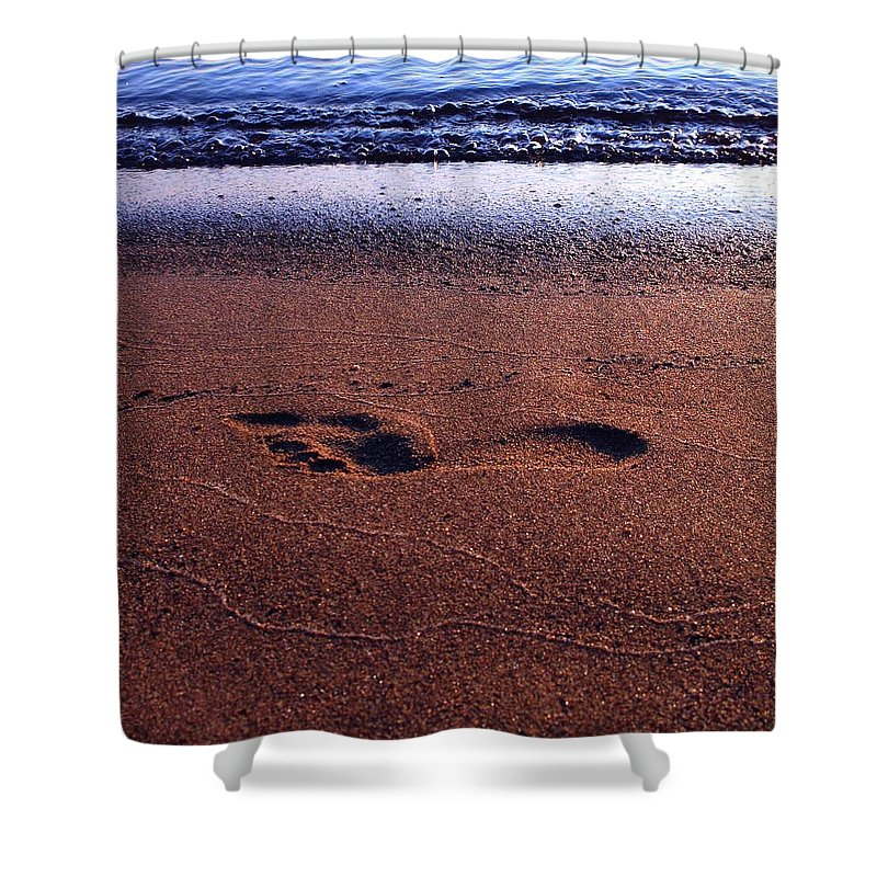 Footprint Shower Curtain featuring the photograph Footprint by Tim Beebe