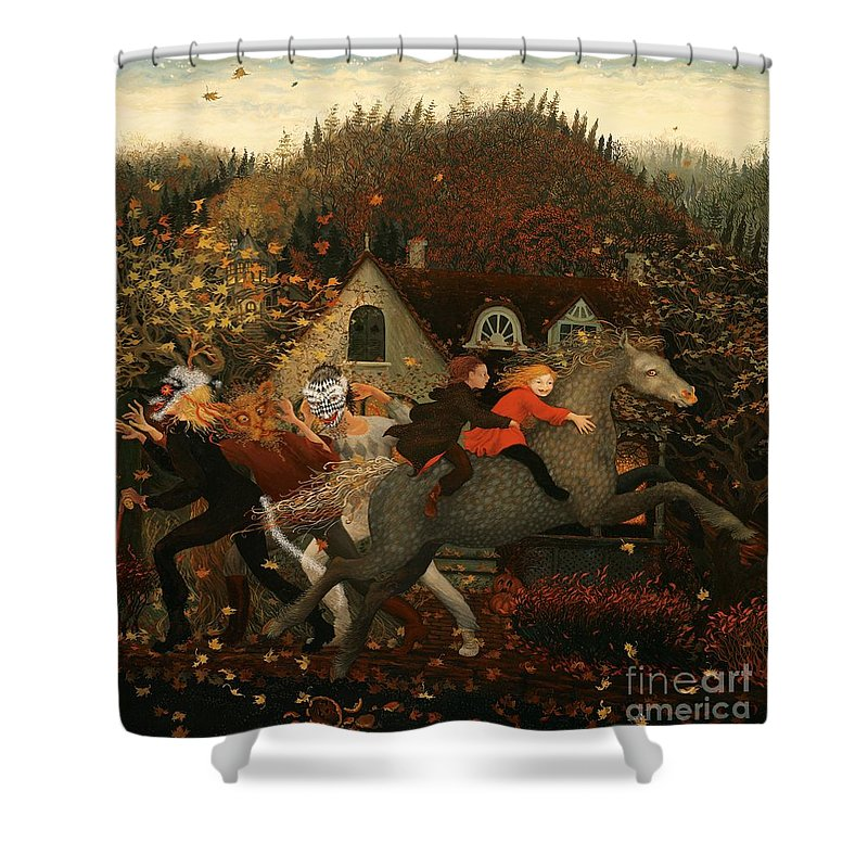 Children Shower Curtain featuring the painting For Children by Cynthia Johansson-Vasilis