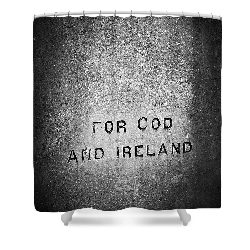 Irish Shower Curtain featuring the photograph For God And Ireland Macroom Ireland by Teresa Mucha