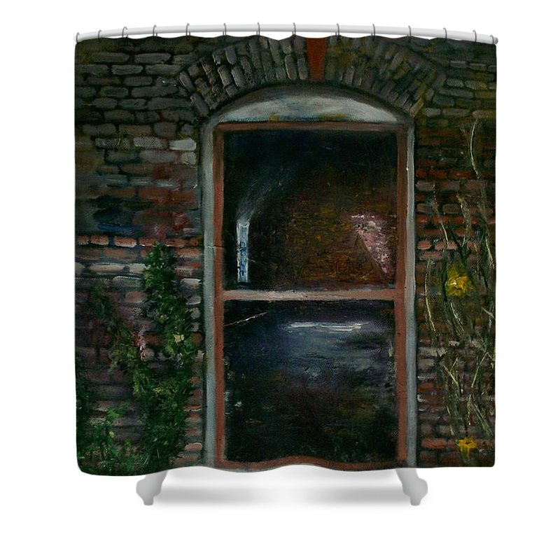 Landscape Shower Curtain featuring the painting For Rent by Stephen King