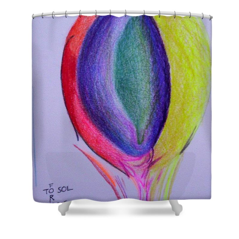 Abstract Shower Curtain featuring the painting For Sol by Suzanne Udell Levinger
