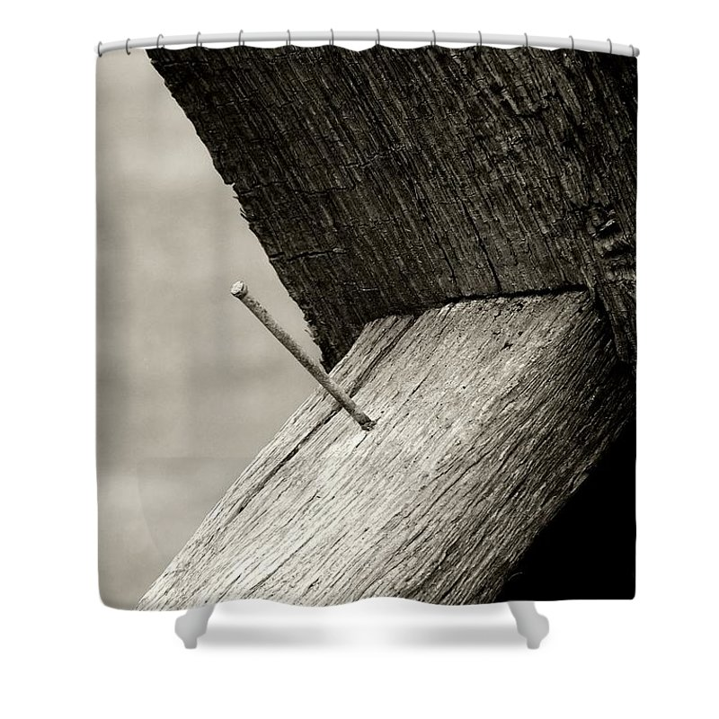 Shower Curtain featuring the photograph For Want Of A Nail by RC DeWinter