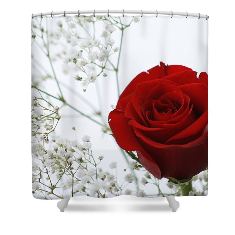 Flower Shower Curtain featuring the photograph For You by Rick Monyahan