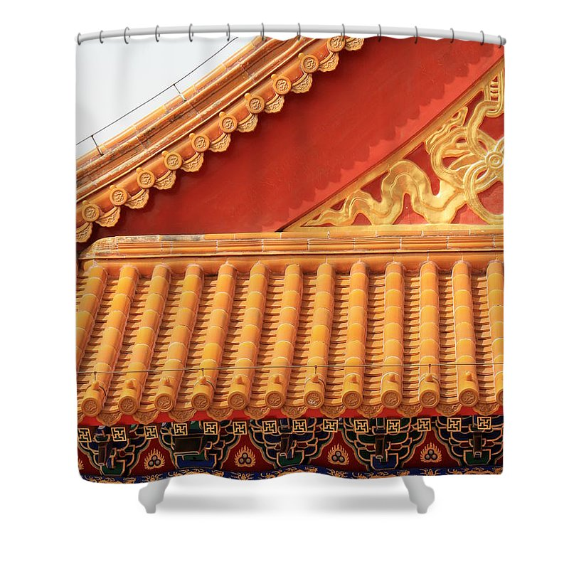Roofs Shower Curtain featuring the photograph Rooftop Splendor by Carol Groenen