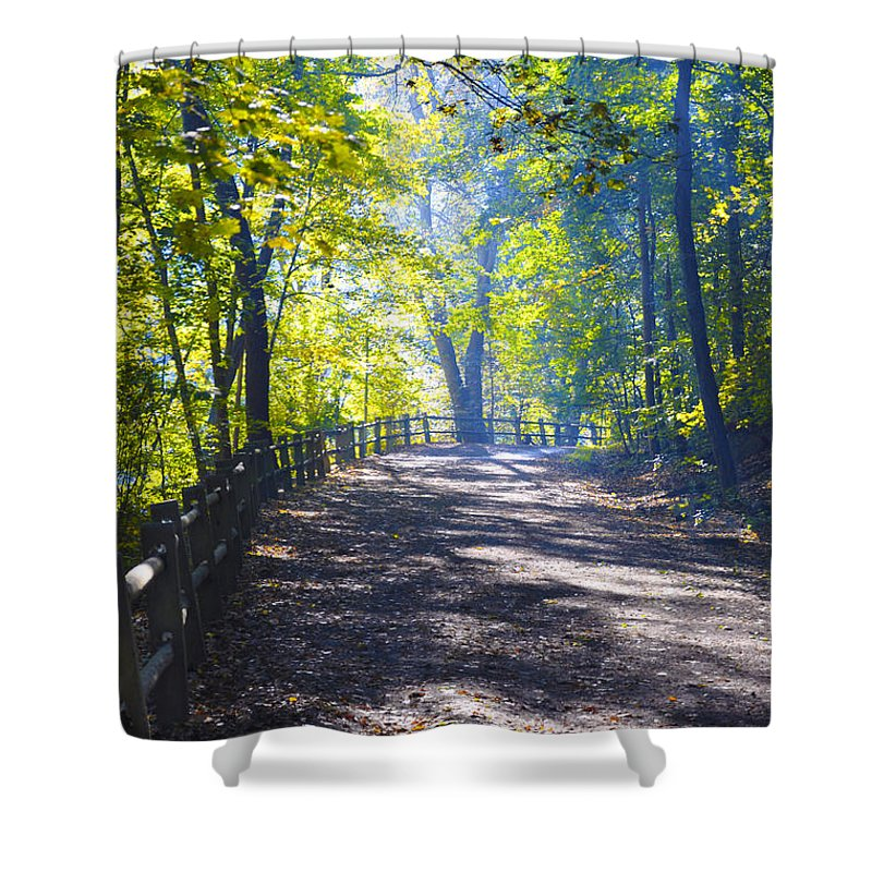 Wissahickon Shower Curtain featuring the photograph Forbidden Drive - Philadelphia by Bill Cannon