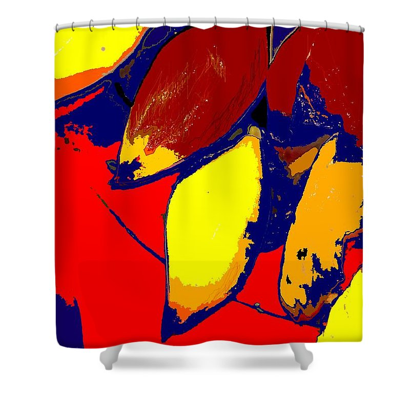 Red Shower Curtain featuring the photograph Forbidden Fruit by Ian MacDonald