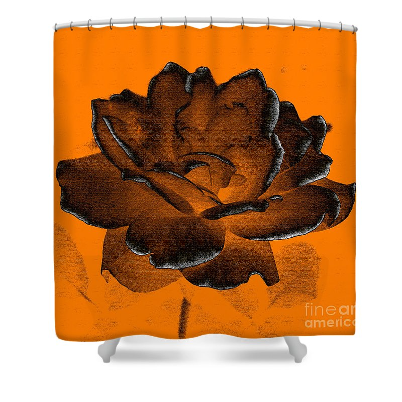 Rose Shower Curtain featuring the photograph Forced Into Shape by Amanda Barcon