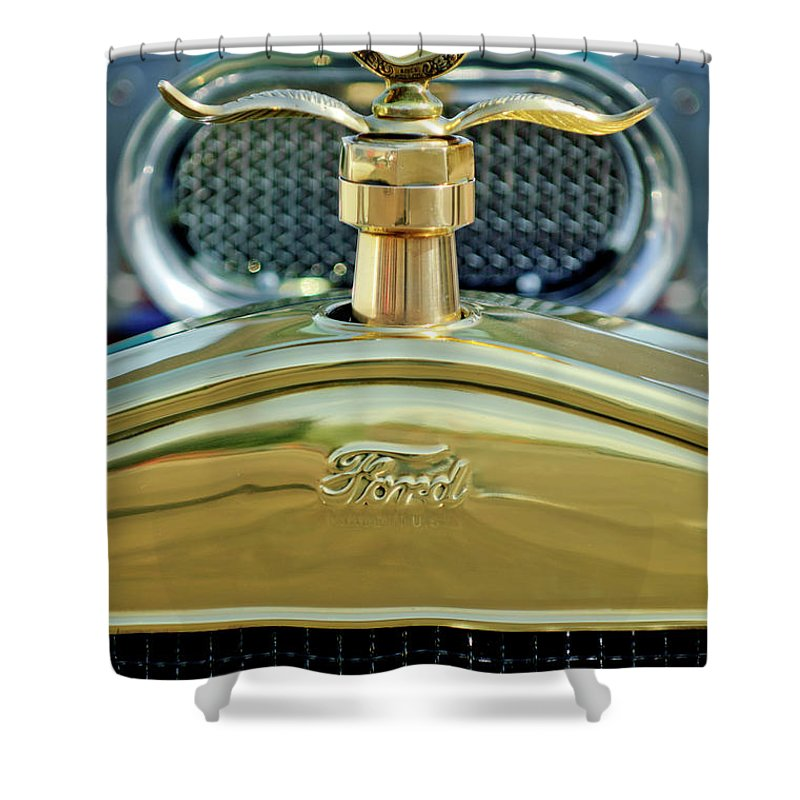 Ford Shower Curtain featuring the photograph Ford Boyce Motometer 2 by Jill Reger