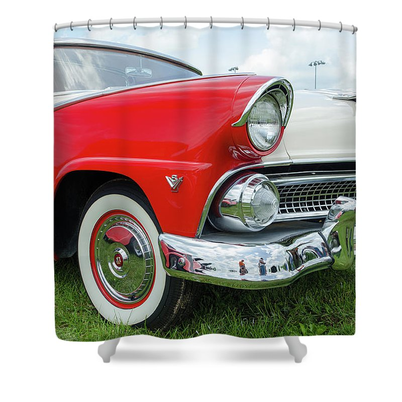 Gaetano Chieffo Shower Curtain featuring the photograph Ford Crown Victoria by Gaetano Chieffo