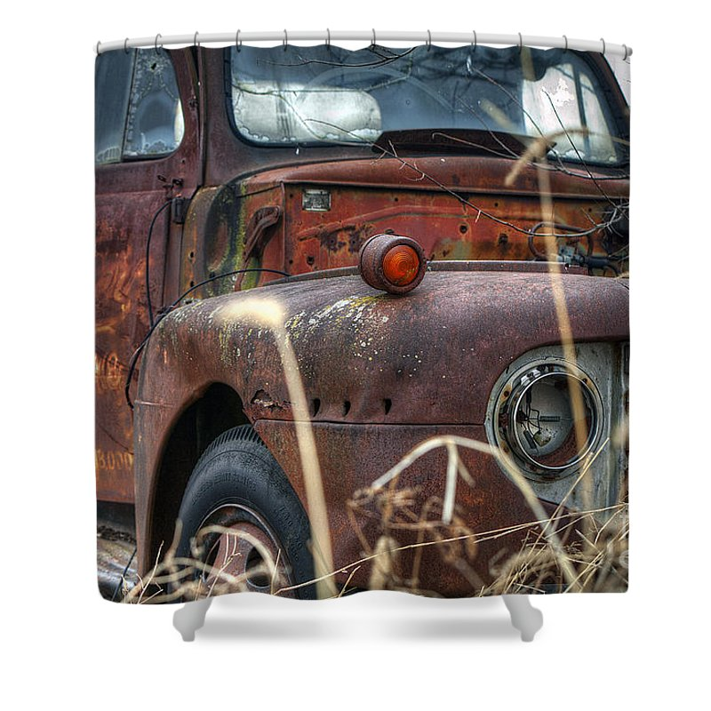 2011 Shower Curtain featuring the photograph Ford In A Field by Larry Braun