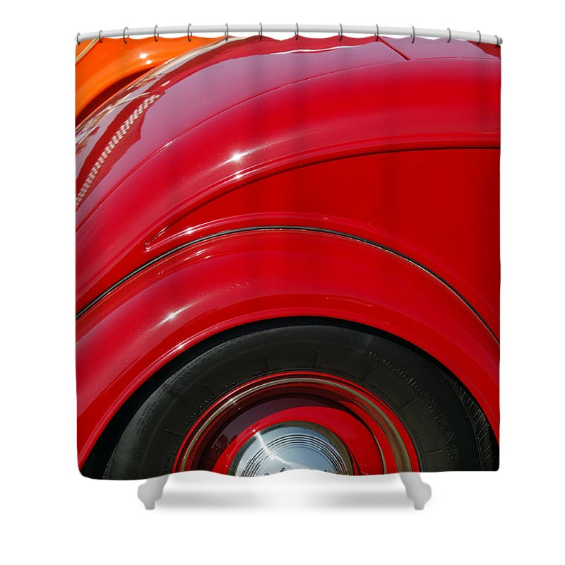 Car Shower Curtain featuring the photograph Ford Roadsters by Jill Reger