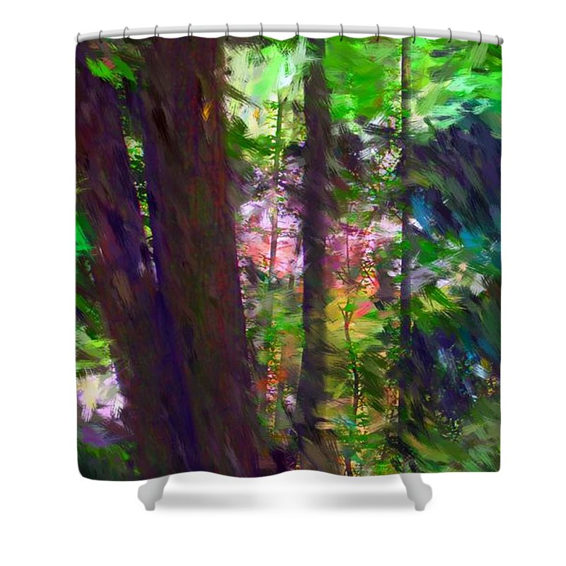 Digital Photography Shower Curtain featuring the digital art Forest For The Trees by David Lane