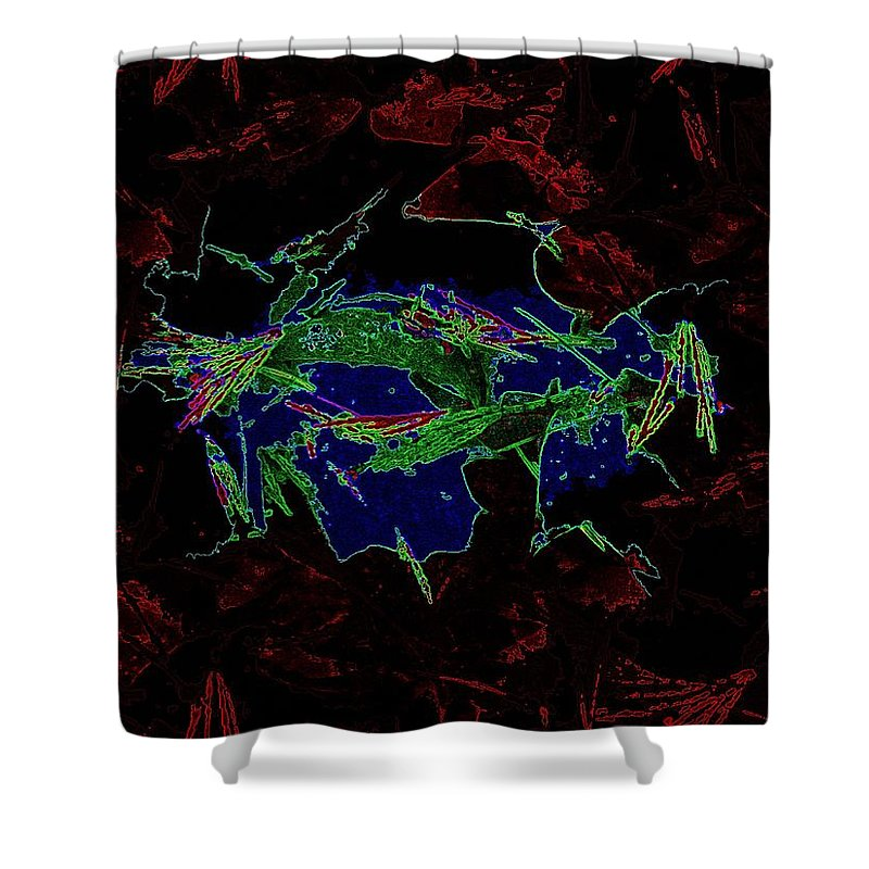 Forest Shower Curtain featuring the digital art Forest For Your Thoughts by Tim Allen