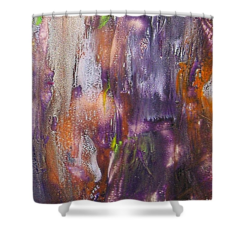Forest Ghost Shower Curtain featuring the painting Forest Ghost by Dragica Micki Fortuna