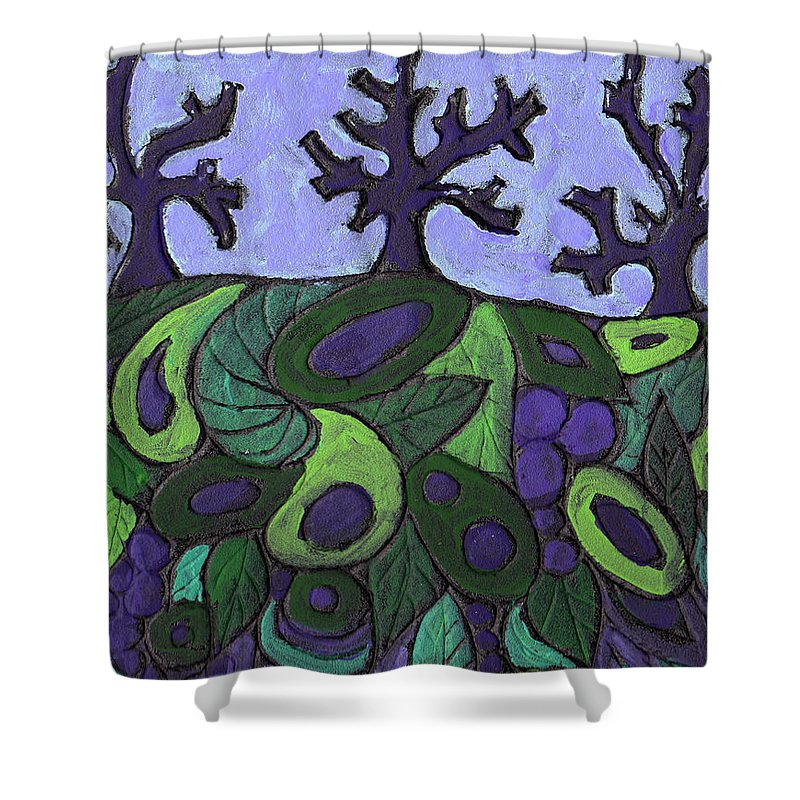 Forest Shower Curtain featuring the painting Forest Royal by Wayne Potrafka