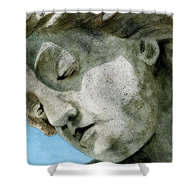 Woman Shower Curtain featuring the painting Forever Yours by Brenda Owen