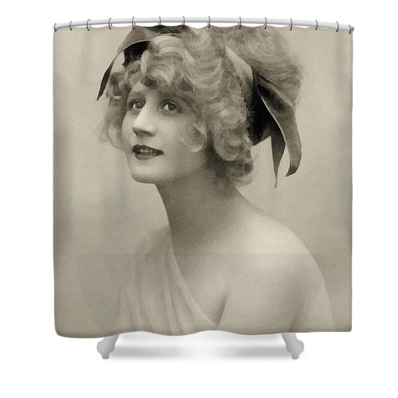 Vintage Shower Curtain featuring the painting Forgotten Beauty by Georgiana Romanovna