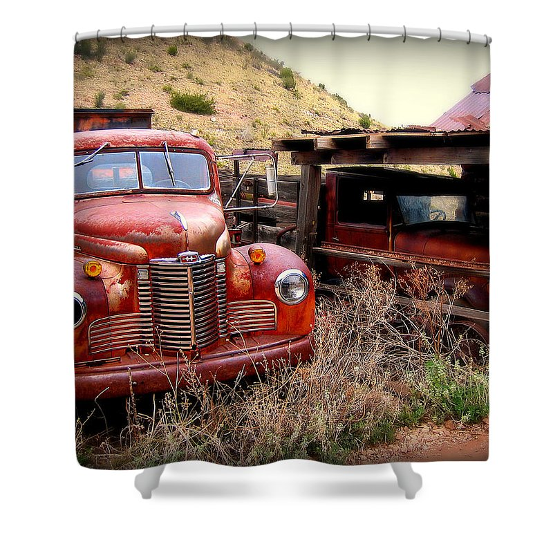 Car Shower Curtain featuring the photograph Forgotten Classics by Perry Webster