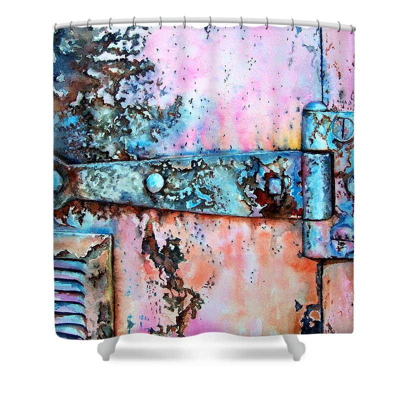 Watercolor Painting Shower Curtain featuring the painting Forgotten by Leyla Munteanu