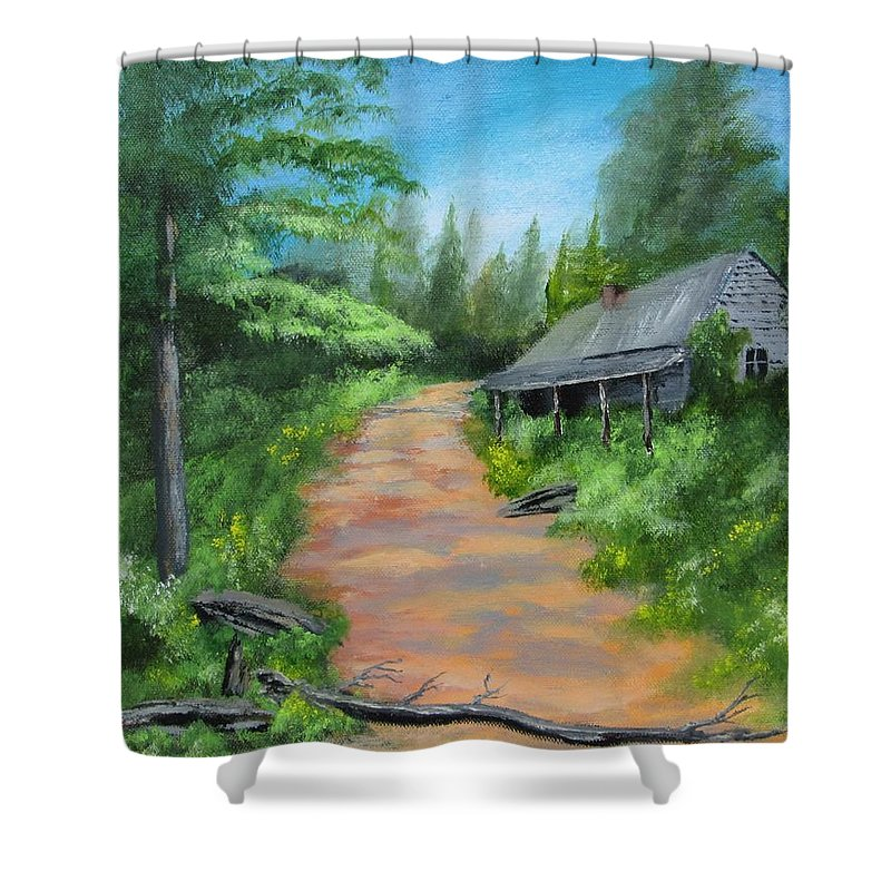 Landscape Shower Curtain featuring the painting Forgotten by Robert Clark