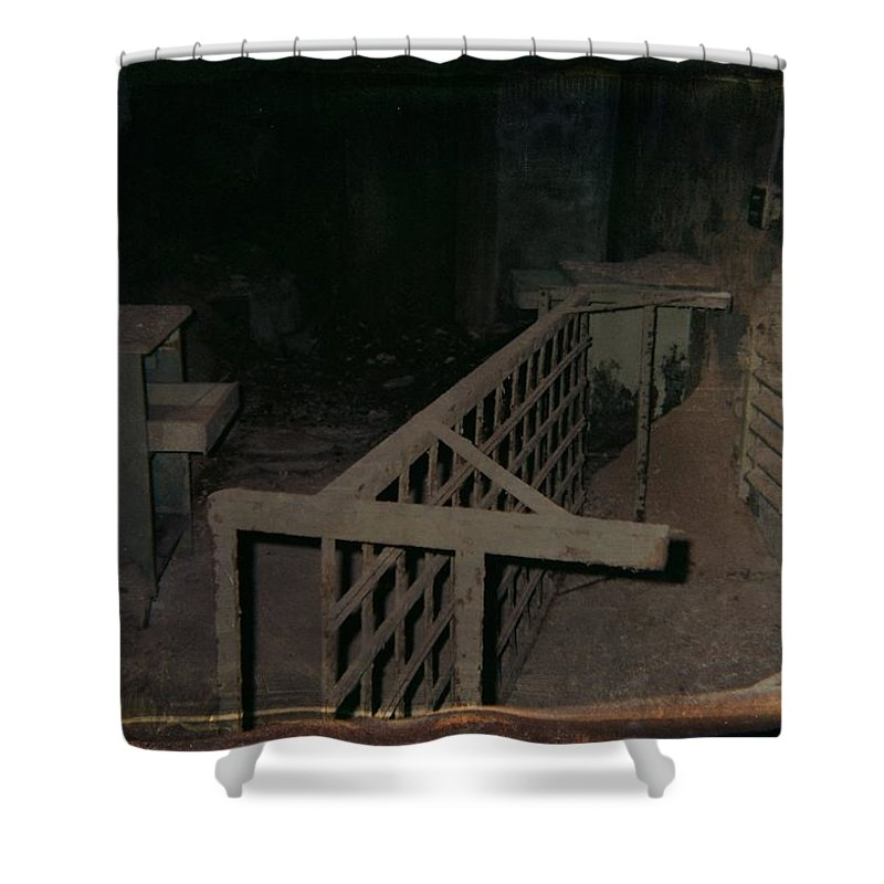 Abandoned Building Shower Curtain featuring the photograph Forgotten Room by Gothicrow Images