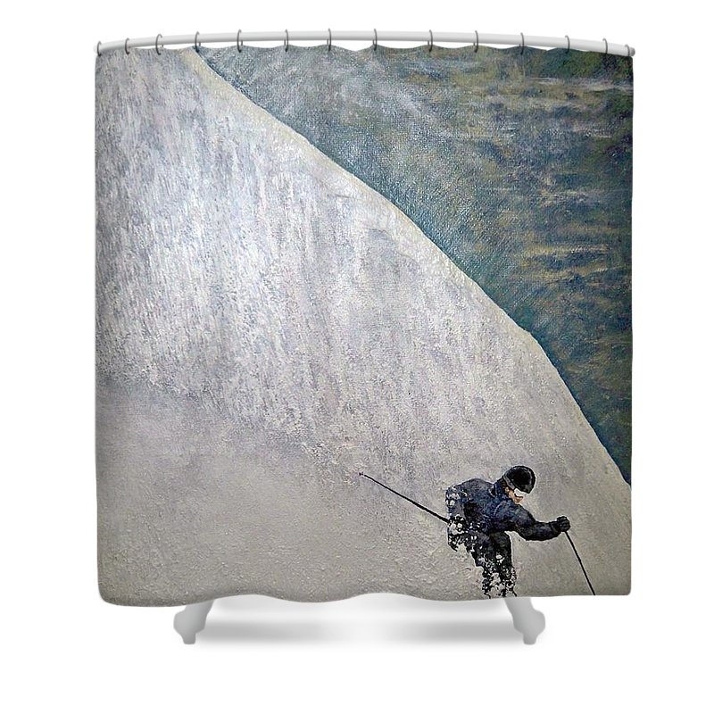Landscape Shower Curtain featuring the painting Form by Michael Cuozzo