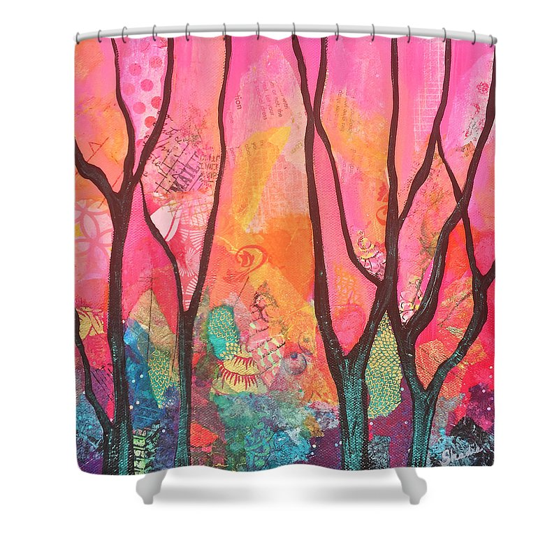 Iridescent Paintings Shower Curtains