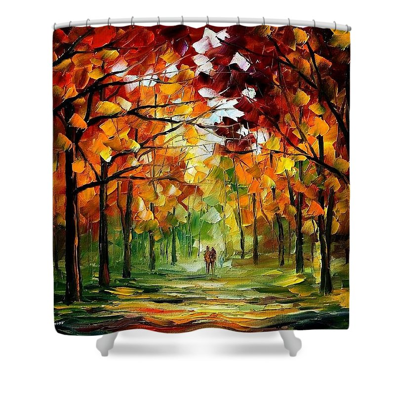 Jandscape Shower Curtain featuring the painting Forrest Of Dreams by Leonid Afremov
