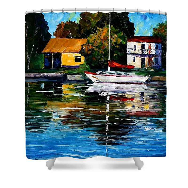 Afremov Shower Curtain featuring the painting Fort Lauderdale - Florida by Leonid Afremov