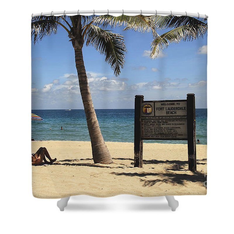 Fort Lauderdale Beach Florida Shower Curtain featuring the photograph Fort Lauderdale Beach by David Lee Thompson