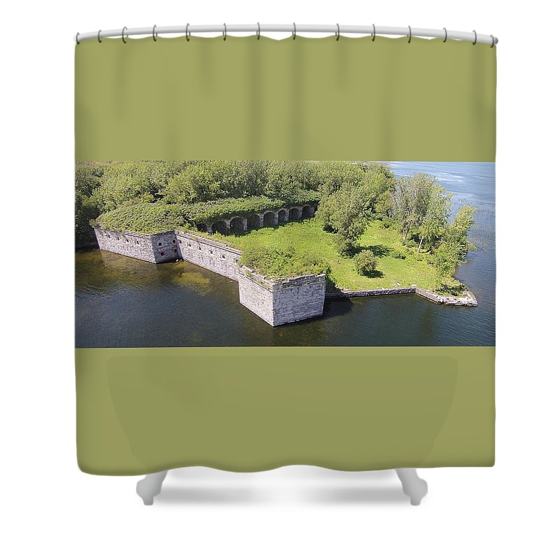 Fort Shower Curtain featuring the photograph Fort Montgomery by Jedidiah Thone