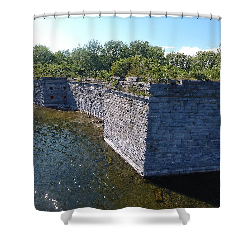 Fort Shower Curtain featuring the photograph Fort Montgomery Close by Jedidiah Thone