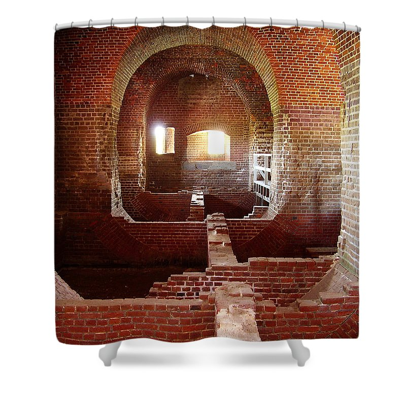 Fort Pulaski Shower Curtain featuring the photograph Fort Pulaski I by Flavia Westerwelle