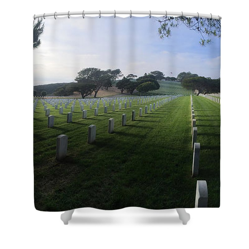 American Shower Curtain featuring the photograph Fort Rosecrans National Cemetery by Lynn Geoffroy